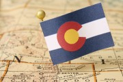 Colorado flag and map
