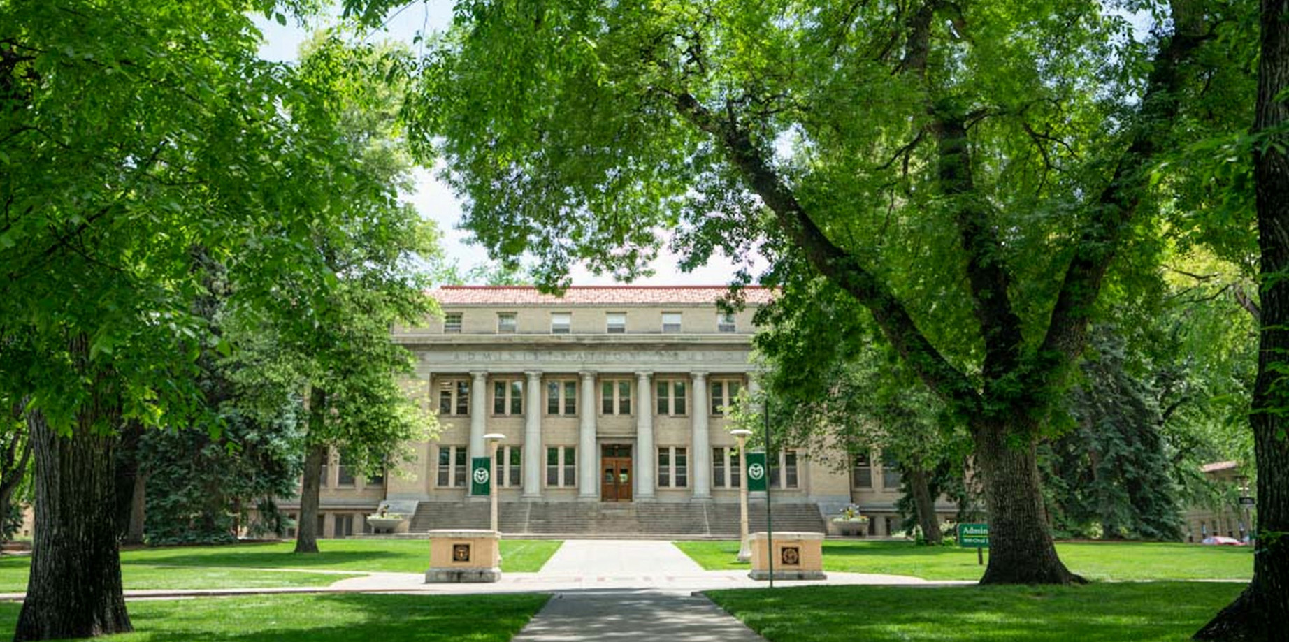 Colorado State University Administration building on the Oval